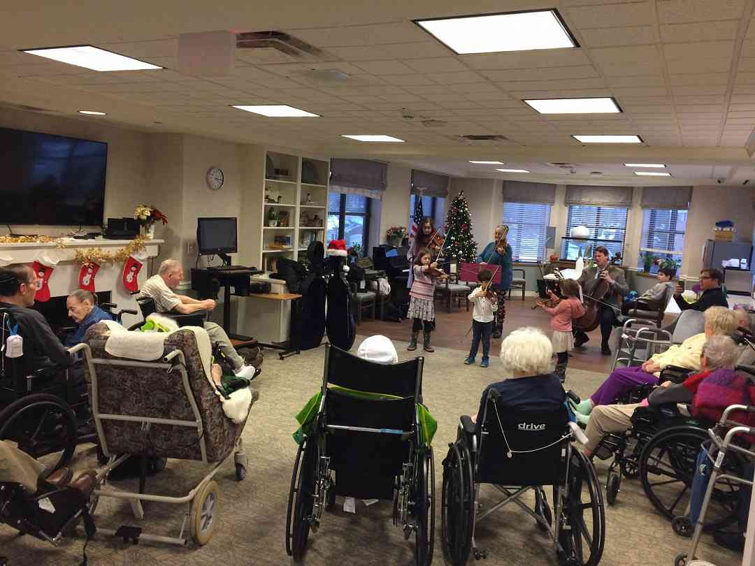 Holiday cheer to Glacier Hills Ret. Community
