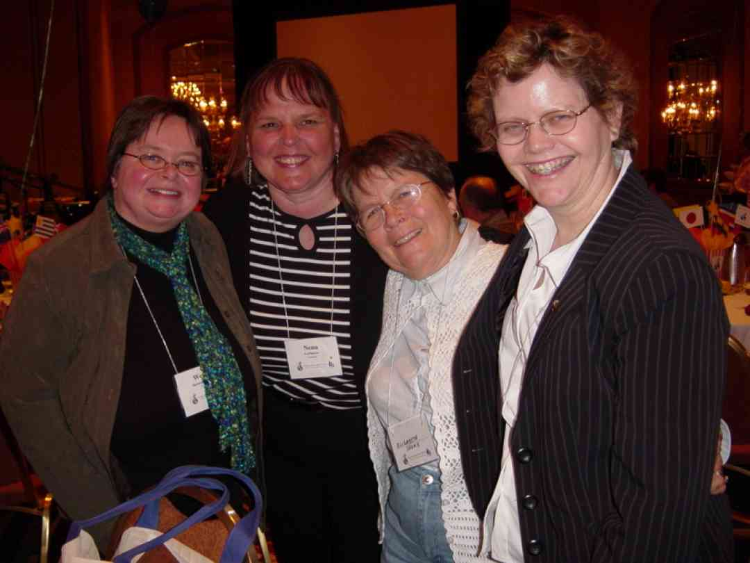 Ellen Berry and friends at the 2008 Conference