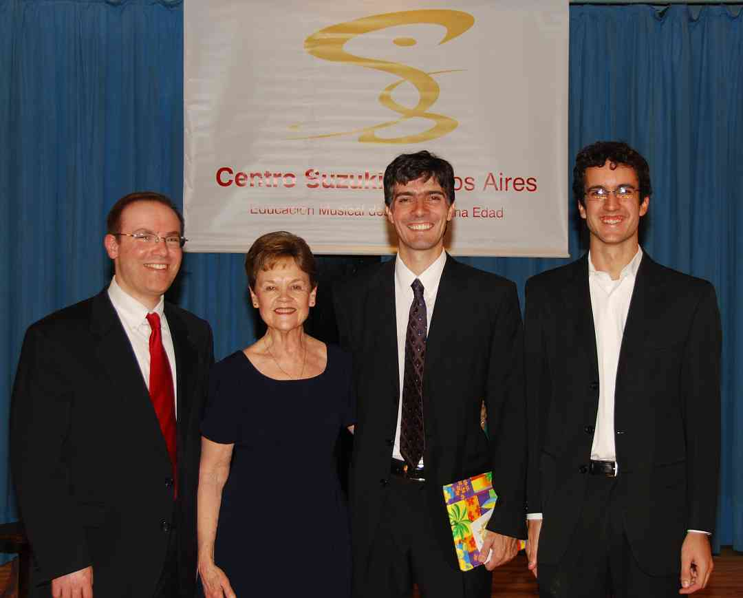 Playing our music together in Buenos Aires: David Levine, Mary Cay Neal, Eduardo Luduena, and Joaquin Chiban