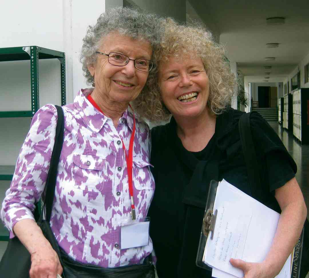 Doris Koppelman and Caroline Fraser in 2011
