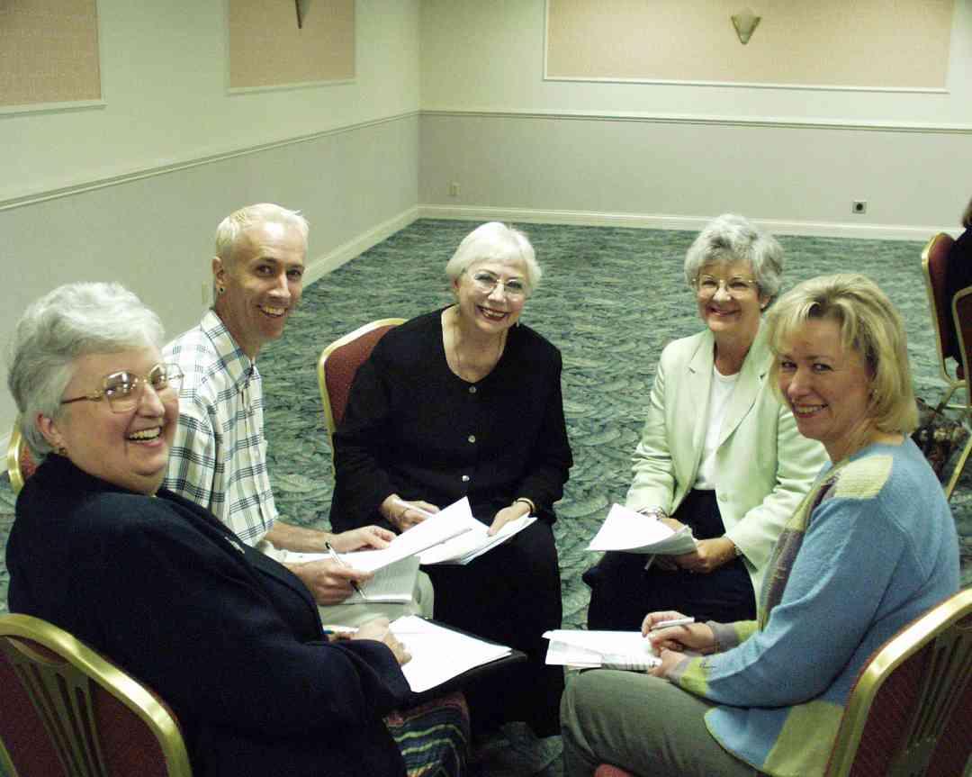 Dorothy Jones, Doris Harrel in a discussion group