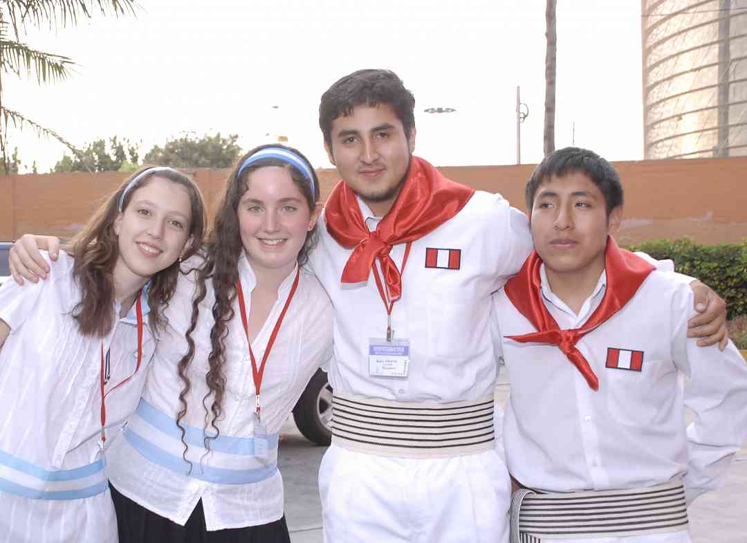 Piano students from Argentina and Peru
