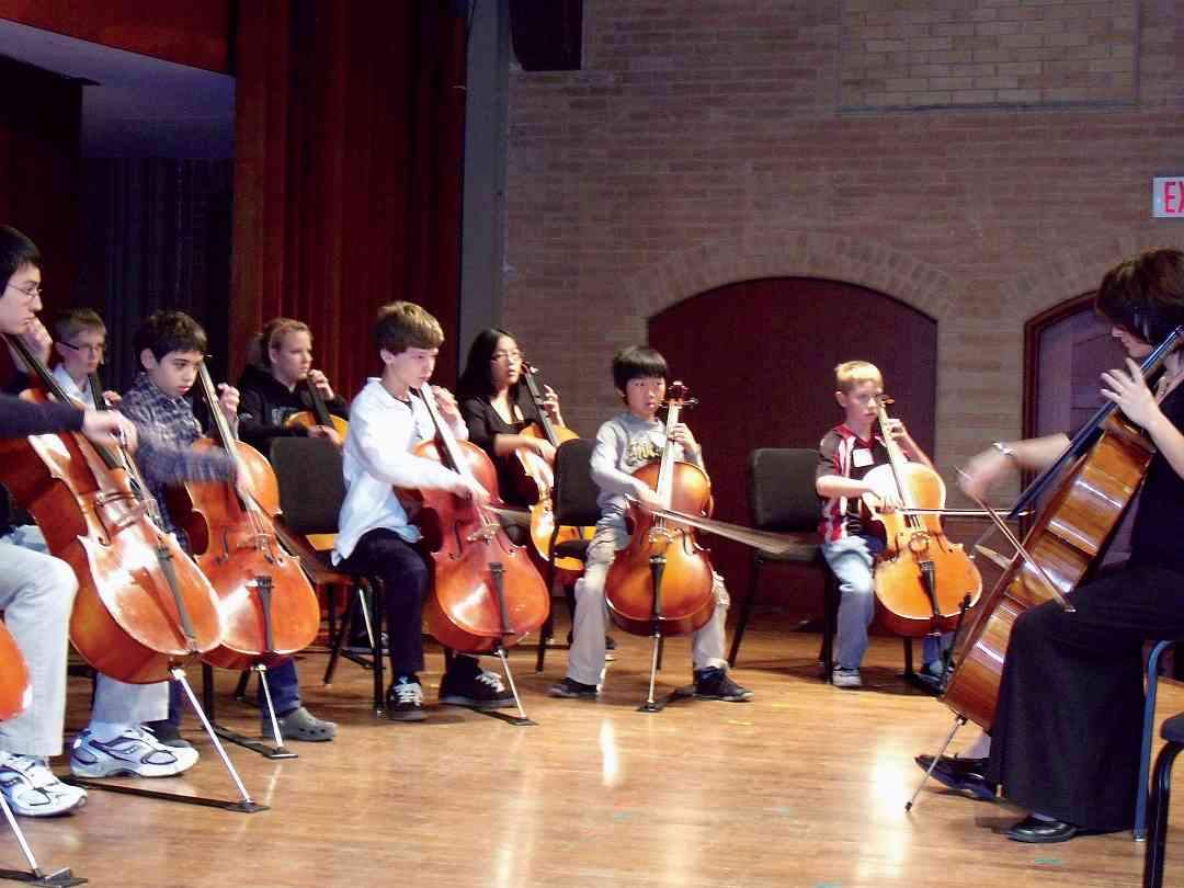 Cello Class at SAO 2008 Conference