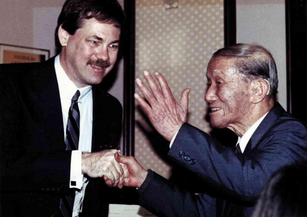 Frank Longay with Dr. Shinichi Suzuki