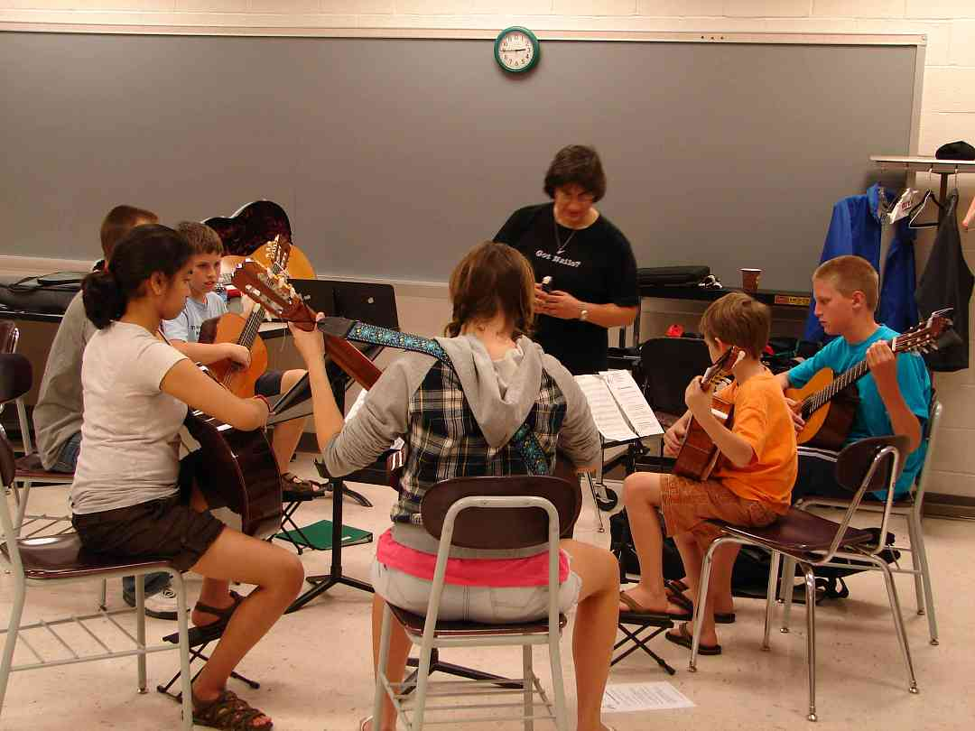 Guitar student ensemble at Greater Pittsburgh Suzuki Institute