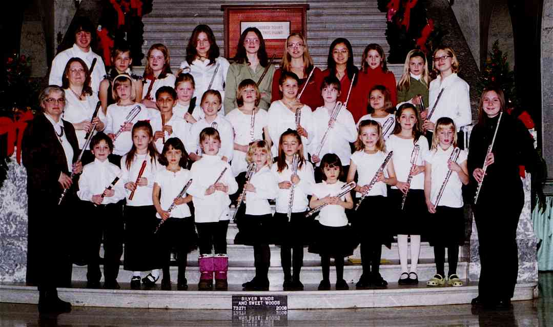 Edmonton Flute and Recorder Society winter group performance