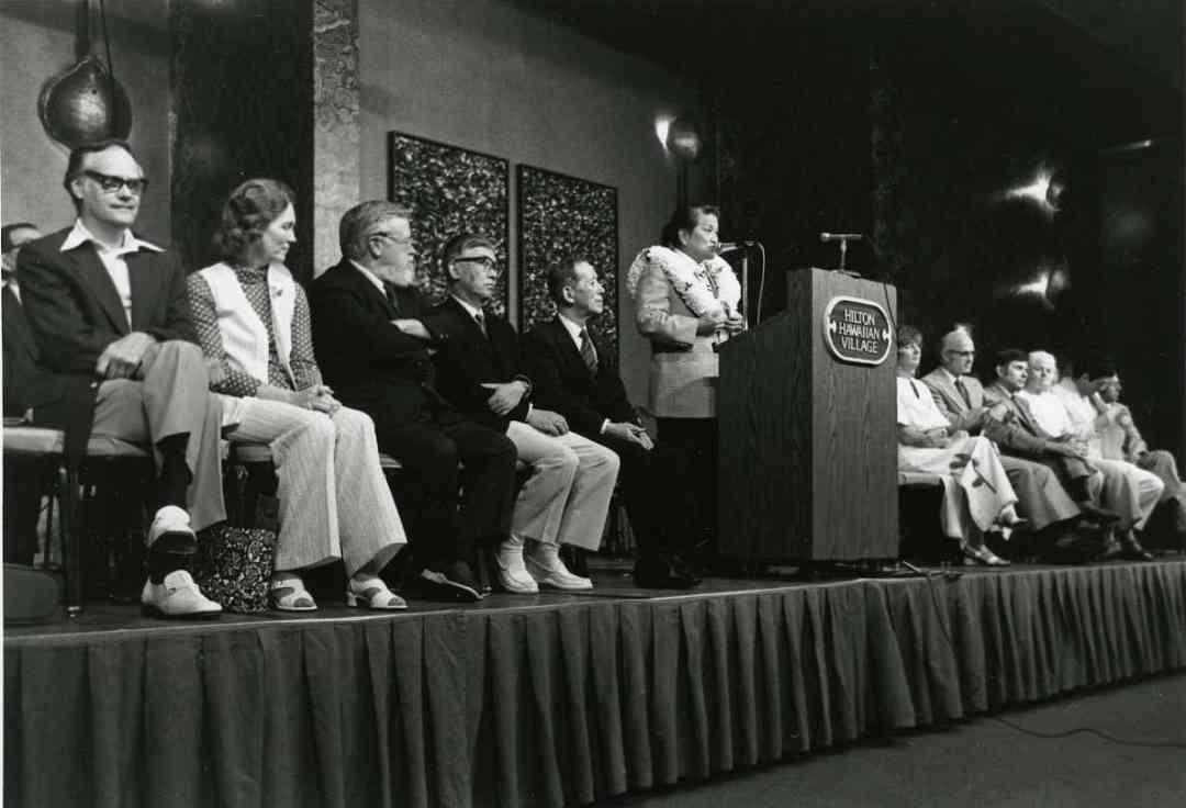 Dr. Shinichi Suzuki at a Conference (Hawaii, 1985)