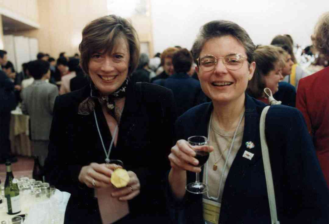Pam Brasch and Pat D'Ercole in Japan in 1999