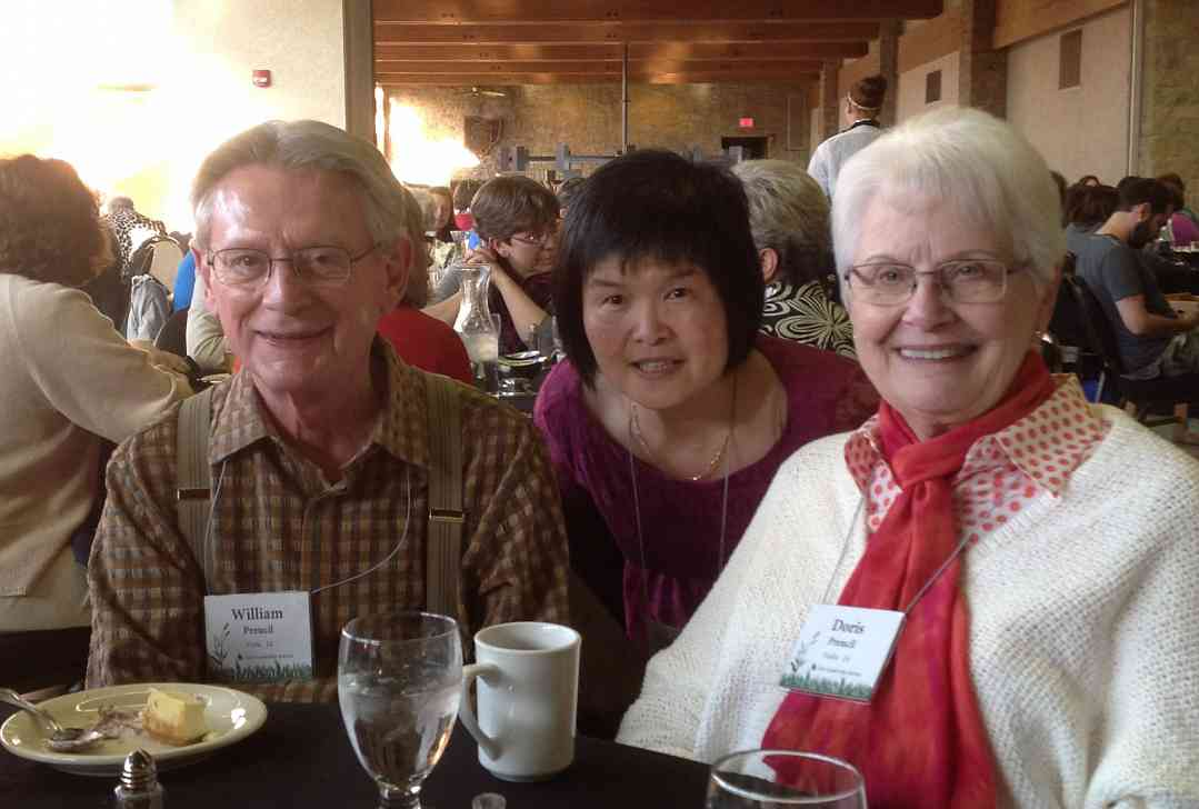 Nightingale Chen with Bill and Doris Preucil at the 2013 Leadership Retreat