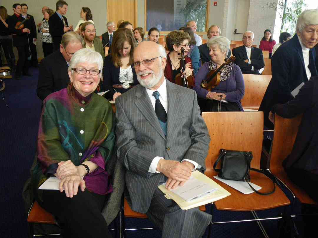 Joan & Sandy Reuning at John Kendall's memorial service