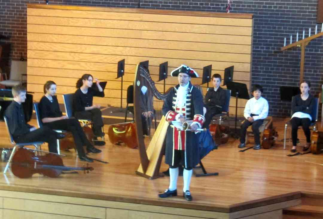 Concert introduction by the town crier