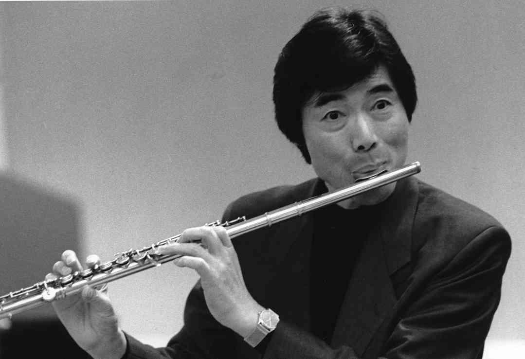 Toshio Takahashi  and flute, June 1991