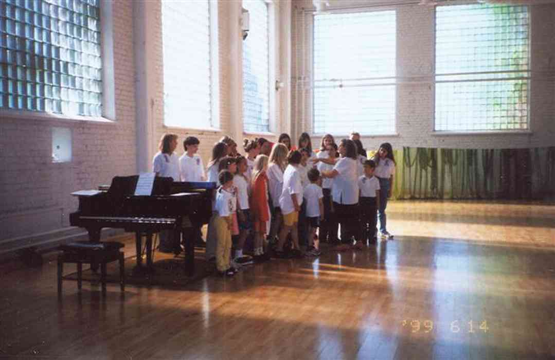 American and Finnish voice students performing in Finland, 1999