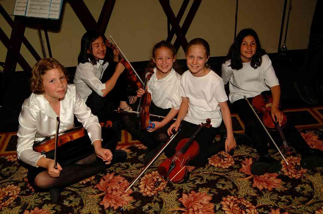 Boulder Suzuki Strings students at the 2001 SAA Leadership Retreat.