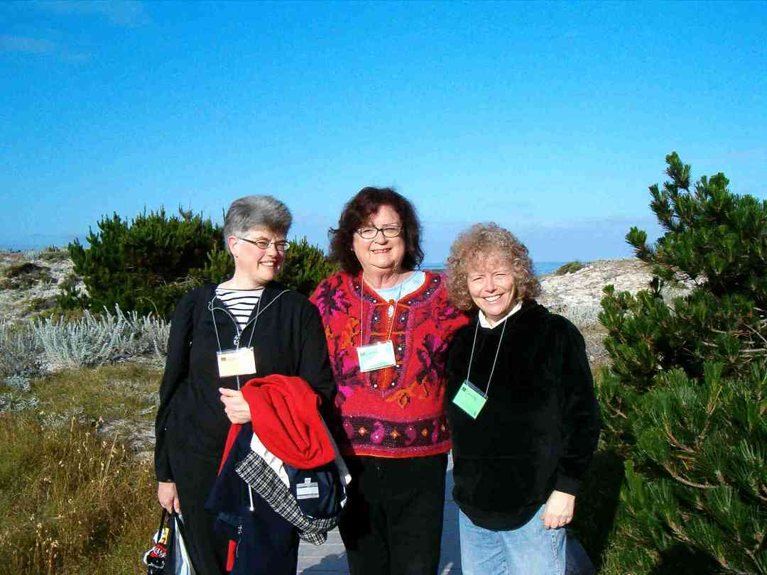 Joanne Melvin, Carmen Wise, and Caroline Fraser at the 2005 SAA Leadership Retreat
