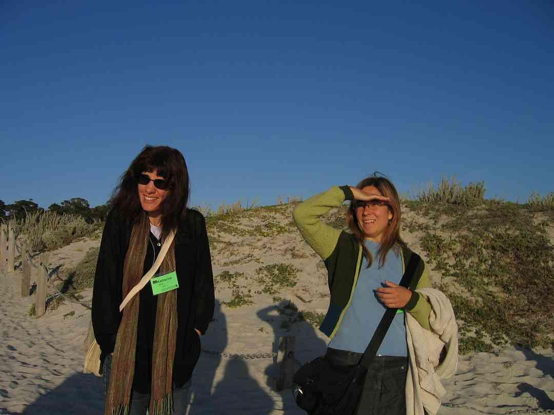 Katherine Baird and friend at the 2005 SAA Leadership Retreat