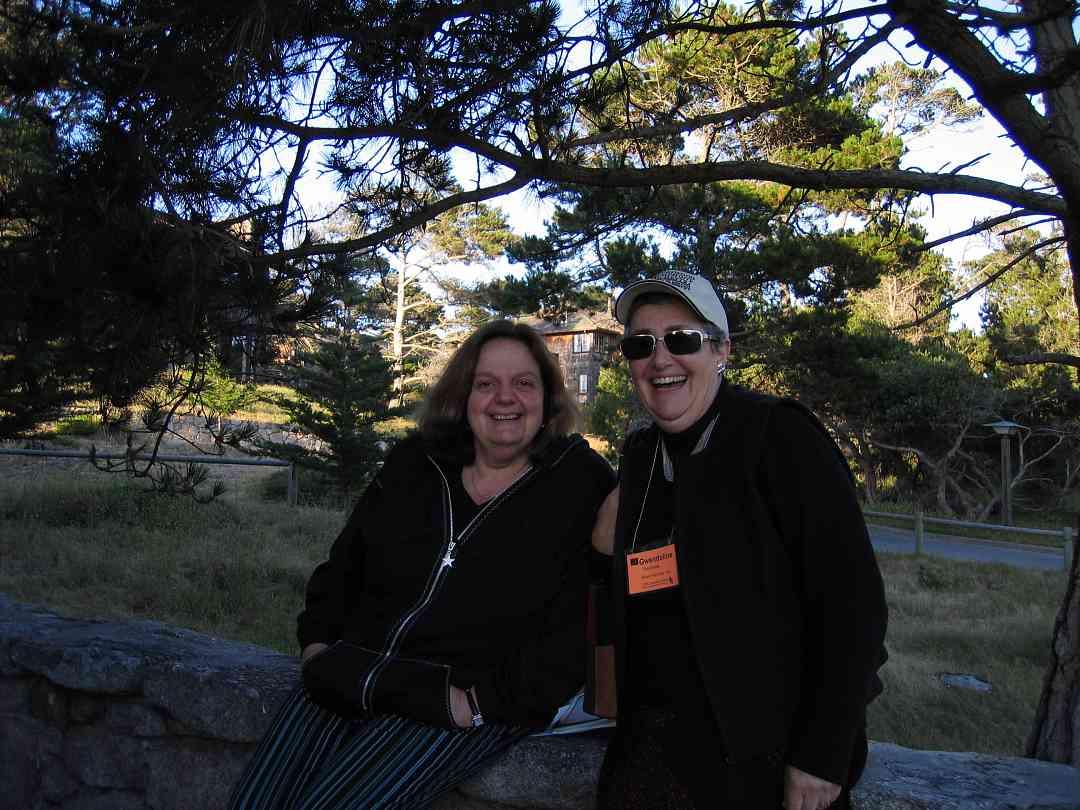 Teri Enfeldt and Gwendoline Thornblade at the 2005 SAA Leadership Retreat