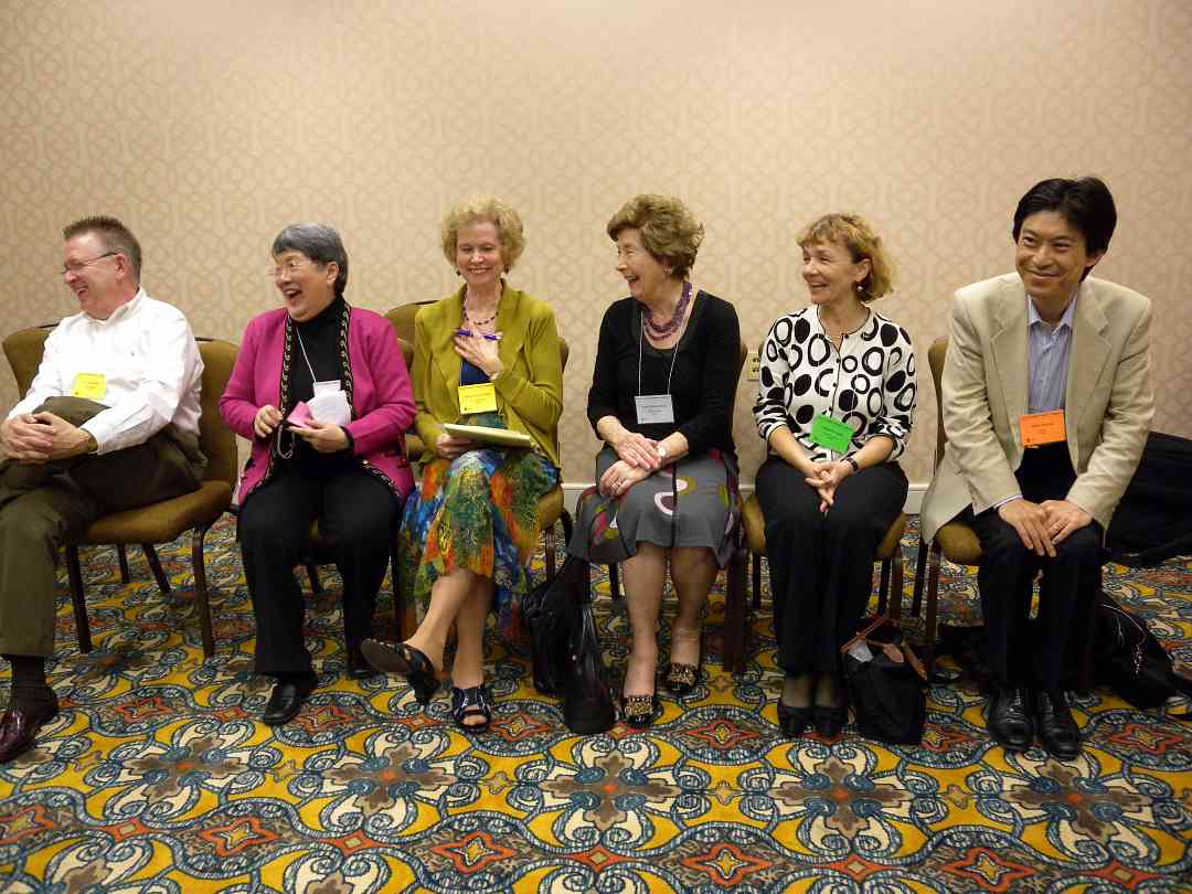 E.L. Lancaster, Carmencita Arambulo, Mary Craig Powell, Nada Brissenden, Kasia Borowiak, and Seizo Azuma