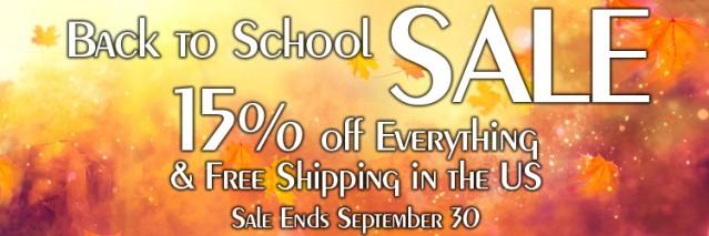 Back to School Sale 2018