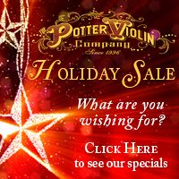 Advertisement: The Potter Violin Company: Holiday Sale