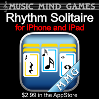 Advertisement: Music Mind Games: Rhythm Solitaire