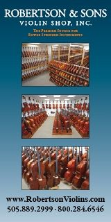 Advertisement: Robertson and Sons Violin Shop, Inc.