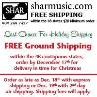 Advertisement: Shar Music