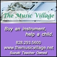Advertisement: The Music Village: Buy an instrument, help a child.