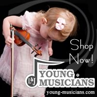 Advertisement: Young Musicians: Quality String Instruments and Accessories