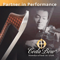 Advertisement: Partner in Performance: CodaBow - Handcrafted in the USA