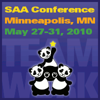 Advertisement: TEAMWORK: SAA Conference, Minneapolis, MN, May 27-31, 2010.