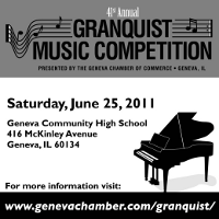Advertisement: 41st annual Granquist Music Competition: June 25 in Geneva, IL