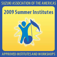 Advertisement: 2009 Suzuki Summer Institutes