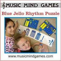 Advertisement: Music Mind Games: Blue Jello Rhythm Puzzle