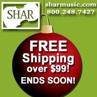 Advertisement: Shar Music: Free shipping over $99 ends soon