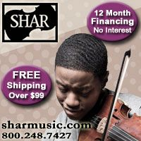 Advertisement: Shar Music: FREE Shipping over $99, 12 month financing with no interest