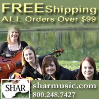 Advertisement: Shar Music: FREE Shipping on all orders over $99