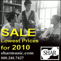 Advertisement: Shar Music: SALE! Lowest prices for 2010.
