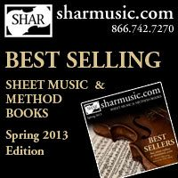 Advertisement: Shar Music: Best Selling Sheet Music and Method Books, Spring 2013 Edition