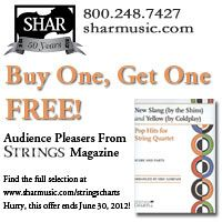 Advertisement: Shar Music: Buy One, Get One Free on Audience Pleasers from Strings Magazine!