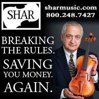 Advertisement: Shar Music: Breaking The Rules. Saving You Money. Again.