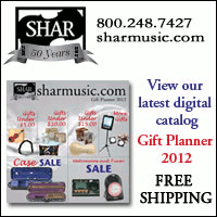 Advertisement: Shar music: View our latest digital catalog. Gift Planner 2012. Free shipping!