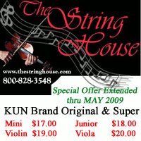 Advertisement: String House: Special offer extended thru May 2009.