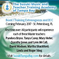Advertisement: Suzuki Music & Teacher Training Academy of Tampa Bay