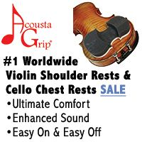 Advertisement: Acousta Grip Shoulder Rests