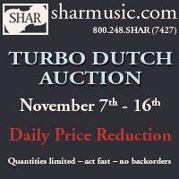 Advertisement: Visit sharmusic.com for Turbo Dutch Auction