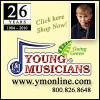 Advertisement: Young Musicians: 26 Years since 1984. Going Green!