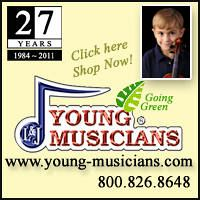 Advertisement: Young Musicians: 27 Years since 1984. Going Green!