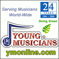 Advertisement: Young Musicians: Serving musicians world-wide since 1984. Now going green.