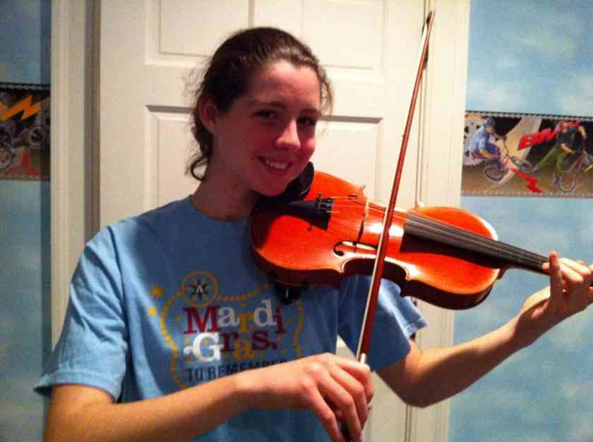 Emily playing violin